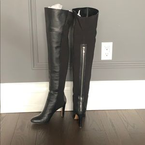 Over the Knee Leather/Material Boots